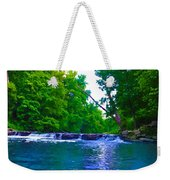 Wissahickon Waterfall Weekender Tote Bag by Bill Cannon