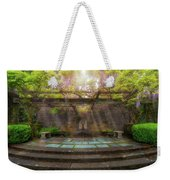 Wisteria Blooming On Trellis At Garden Patio Weekender Tote Bag