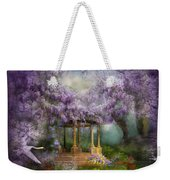 Wisteria Lake Weekender Tote Bag by Carol Cavalaris