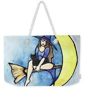 Witch And Moon Weekender Tote Bag