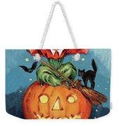 Witch In A Big Pumpkin Weekender Tote Bag