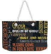 Witchcraft Typography Weekender Tote Bag