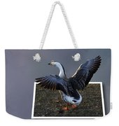 With A Nod Of The Head And A Twist Of The Tail Weekender Tote Bag