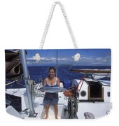 With A Spanish Mackerel Walu Caught Weekender Tote Bag