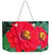 With Beauty As A Pure Red Rose Weekender Tote Bag