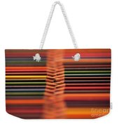 With Design Elements In Rows Weekender Tote Bag