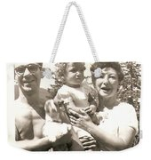 With The Curl On Her Forehead Weekender Tote Bag