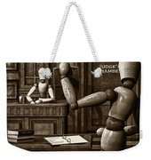 Witness For The Prosecution Weekender Tote Bag by Bob Orsillo
