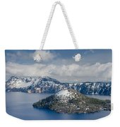 Wizard With Partial Snow Mantle Weekender Tote Bag
