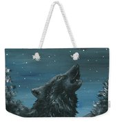 Wolf And The Stars Weekender Tote Bag