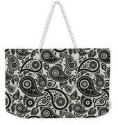 Wolf Gray Paisley Design Weekender Tote Bag