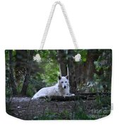 Wolf Greeting Weekender Tote Bag