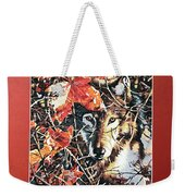 Wolf Hiding In Branches Weekender Tote Bag