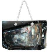 Wolf Motorcycle Side Panel Weekender Tote Bag