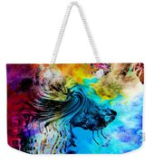 Wolf Playing With Butterflies Weekender Tote Bag