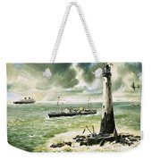 Wolf Rock Lighthouse At Land's End Weekender Tote Bag