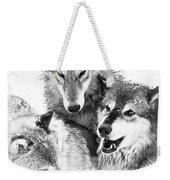 Wolf Triplets Weekender Tote Bag