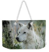 Wolf, White Weekender Tote Bag
