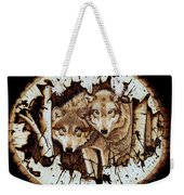 Wolves In Hiding Weekender Tote Bag