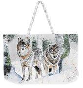 Wolves In The Birch Trees  Weekender Tote Bag