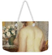 Woman At A Dressing Table Weekender Tote Bag