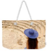 Woman At Greco-roman Theatre At Kourion Archaeological Site In C Weekender Tote Bag