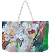 Woman At The Jazz Club Weekender Tote Bag