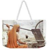 Woman At The Pump Weekender Tote Bag