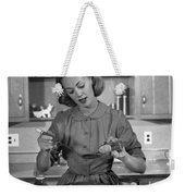 Woman Baking In Kitchen, C.1960s Weekender Tote Bag