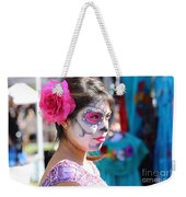 Woman Beautiful Day Of The Dead  Weekender Tote Bag