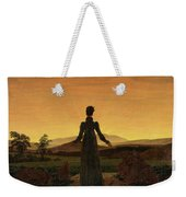 Woman Before The Rising Sun Woman Before The Setting Sun1818-20  By Caspar David Friedrich 1774 Weekender Tote Bag