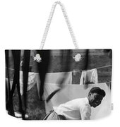 Woman Doing Laundry, C1902 Weekender Tote Bag
