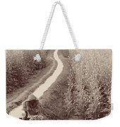 Woman Doing Laundry In Canal- Sepia Weekender Tote Bag
