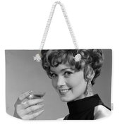Woman Drinking Champagne, C.1960s Weekender Tote Bag