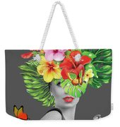 Woman Floral  Weekender Tote Bag
