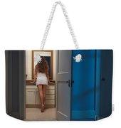 Woman In A Bathroom Weekender Tote Bag