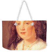 Woman In A Black Veil Weekender Tote Bag
