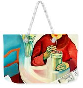 Woman In A Cafe Weekender Tote Bag