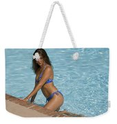 Woman In A Pool. Weekender Tote Bag