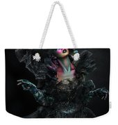 Woman In Black Gown And Headdress In Body Paint Weekender Tote Bag