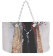 Woman In Evening Clothes And Cape Weekender Tote Bag