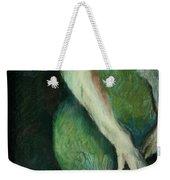 Woman In Green Weekender Tote Bag