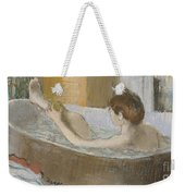 Woman In Her Bath Weekender Tote Bag