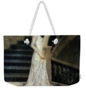 Woman In Lace Gown On Staircase Weekender Tote Bag