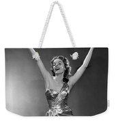 Woman In Metallic Dress, C.1950s Weekender Tote Bag