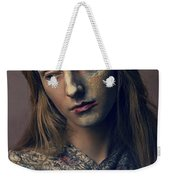 Woman In Painterly Look Weekender Tote Bag