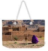 Woman In Purple Weekender Tote Bag