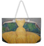 Woman In A Yellow Dress Weekender Tote Bag