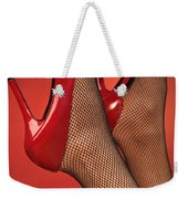 Woman In Red High Heel Shoes Weekender Tote Bag
