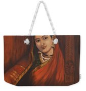 Woman In Saree - After Raja Ravi Varma Weekender Tote Bag
